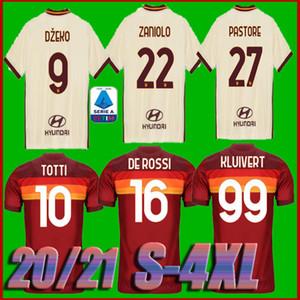 boyut S-4XL 20 21 ROMA ev uzakta futbol forması 2020 2021 AS PASTORE Dzeko Zaniolo EL Shaarawy ROMA erkek çocuklar formalarını