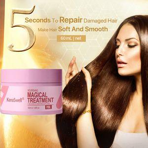 Keraswell Hair Care Magic Keratin Mask, 5 seconds, repair hair root damage, nourish keratin, used for hair and scalp treatment TXTB1