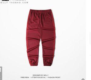 Marca Kanye west Temporada 4 Crewneck Sweatpants S-2XL Calabasas Calças homens soltos Corredores Confortável Men Elastic Pants Hip Hop
