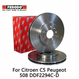 2pieces set Ferodo Car Front Brake Disc For C5 508 DDF2294C-D ExPx#