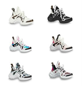 2020 Tasarımcı Casual Ayakkabı Kutusu ile Beyaz Mavi Monogram Siyah ARCHLIGHT spor ayakkabısı Gerçek Deri Eğitmenler Runner Ayakkabı sneakers