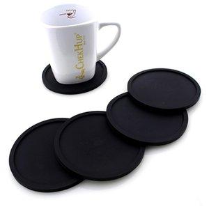 Цветной силиконовый круглого Coaster кофе подстаканник водонепроницаемой Термостойкая Кубок Мат сгущает кофе Coaster Подушка Placemat Pad DBC DHC139