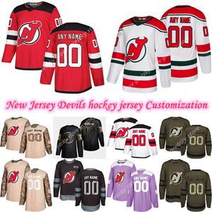 Personalizzazione 2020 Notizie diavoli del New Jersey pullover del hokey Stili multipli Mens 35 SCHNEIDER GREENE personalizzate qualsiasi nome qualsiasi numero Hockey maglie
