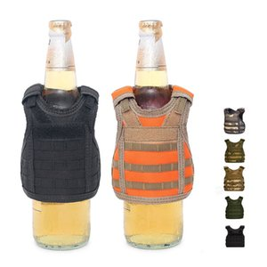 Beverage Koozie Vest Military Molle Mini Beer Cover Vest Cooler Sleeve Adjustable Shoulder Straps Beer Cover Bar Party Decoration GH324
