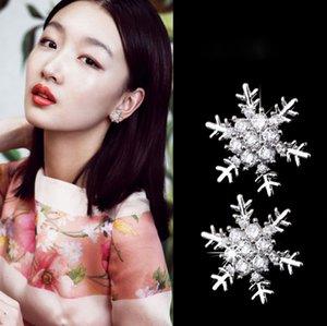 South Korea S925 Sterling Silver Needle Hot Snow Earrings Female Full Diamond Fashion All-match Net Red Celebrity Inspired Female Earrings W