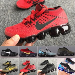 Nike Vapormax flyknit air max  Rainbow Air 2018 Style Fly 2.0 Mens Women Shoes Shock Kids Running Shoes Fashion Children Casual Sports Sneakers Shoes BL5WY