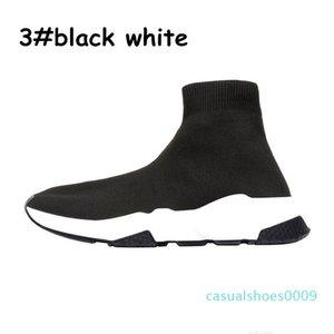 2020 Designer Shoes Speed Casual Entraîneur de chaussettes triple plat hommes Mode féminine taille mode sport 36-45 de C09