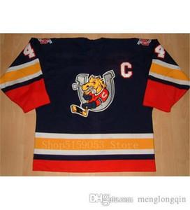 Barrie Colts Hockey Jersey broderie Cousu Personnaliser tout numéro et le nom Jerseys blanc bleu marine