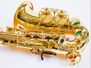 Professional Alto Saxophone YAS-857EX, YAS-62 Gold Key super instrument de musique de haute qualité électrophorétique Or Sax Embouchure Etui rigide