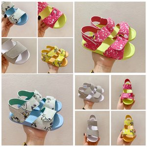 The Newest kids sandal for boy girl summer beach shoes grey red blue yellow size 21-32