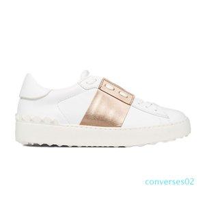 New arrivel Top Designer Shoes Branco Moda Mens Mulheres Casual Couro Abrir Low esportes sapatilhas Tamanho 35-46 CO02