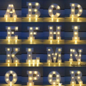 26 Letters White LED Night Light Marquee Sign Alphabet Lamp For Birthday Wedding Party Bedroom Wall Hanging Party Decoration ZA4919