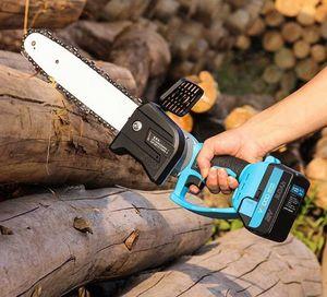 Cordless Kettensäge Brushless Motor Power Tools21V Li-Ionen-Akku-Elektro-Kettensäge Garden Power Tools 1YBu #