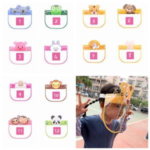 Çocuklar Çocuk Güvenliği faceshield Şeffaf Tam Yüz Kapak Koruyucu Film Aracı Anti-sis Yüz Kalkanı Tasarımcı Maskeleri RRA3292