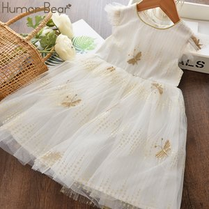 Humor Bear Summer Girls Dress 2020 NEW Butterfly Embroidery Soft Mesh Princess Party Dress Fashion Baby Kids Girls Clothing
