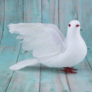 2pcs Artificial Foam Feather Simulation Bird DIY Party Crafts Ornament Prop