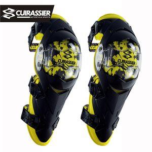 Cuirassier Motorcycle Knee Protector engrenagem Protective Knee Guards Kit Kneepad equitação espessamento Elbow Proteção Moto Acessórios