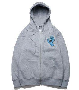 2020SS Мужского Женского SANTA CRUZ Hoodie Hip Hop Zipper Толстовка Мода Стилист куртка вскользь куртки Hoodie Размер S-4XL