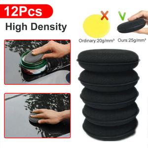 12pcs Car Waxing Polish Foam Sponge Wax Applicator Cleaning Detailing Pads Kit
