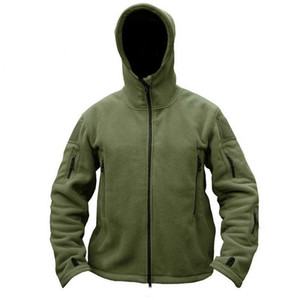 Autumn Zipper Hoodies Men Long Sleeves Solid Hooded Sweatshirt Male Tactical Fleece Tracksuit Jacket Outerwear