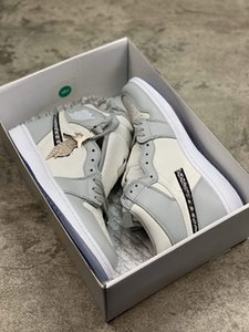 Best With box 2020 Officially revealed anniversary collaboration Grey White French fashion style label Kim Jones Sneaker shoe size36-45