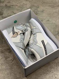 Лучший С коробкой 2020 официально показали юбилей сотрудничества Серый Белый французский лейбл моды стиль Ким Джонс Sneaker обуви size36-45