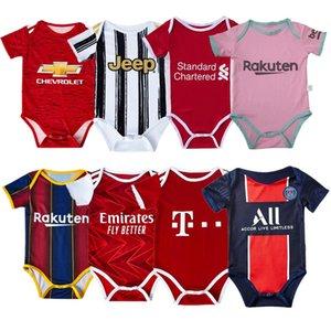 2020 2021 bebeğin formaları Tulum Bebek Üçgen tırmanın Giyim oğlan elbise 20 21 Futbol kulübü futbol forması bebek gömlek
