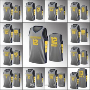 MemphisGrizzliesMen Ja Morant Jonas Valanciunas Jaren Jackson Jr. Dillon Brooks GrayNBA Custom 2020 Jersey