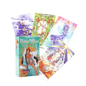 Tarot des cartes de tarot roue d'or plate-forme Table de jeu Jeux de société Guidance Divination destin Oracle English Party Playing Card