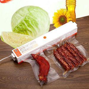 Household Vacuum Food Machine Sealer Bag Embalagens plásticas Vacuum Sealer máquina de casa Cozinha Industrial Food Sealing DHA106