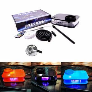 Kontrol edilebilir LED Işıklar ile Nargile Çay Seti Stil Dab Rig 5 Renk Parti Bar gör dabber Boru