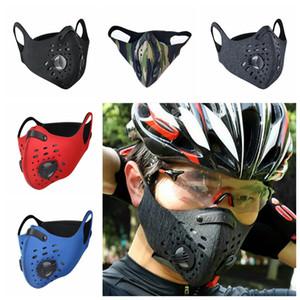 Kamuflaj Bisiklet Çift Vana Değiştirilebilir Aktif Karbon Filtre CCA12367 olmadan Açık Windproof Anti-toz Bisiklet Maskeler Maske Nefes Maske