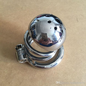 Stainless Steel Super Small Male Chastity device Adult Cock Cage With Curve Cock Ring BDSM Sex Toys Bondage Chastity belt