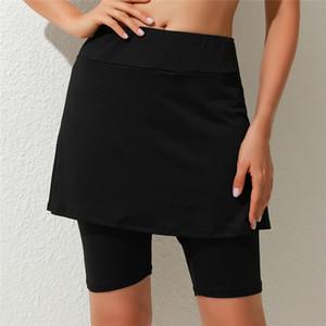 Summer Middle Elastic Waist Wrap Folding Hip Women Latin Dance Short Skirts Side Solid Color For Lady Waist Shorts Women