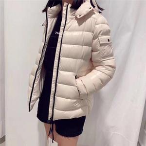 French Marca Senhoras Designer Lightweight Down Jacket Classic Star com o mesmo jaqueta para baixo fêmea curto ganso para baixo espessou jaqueta magro