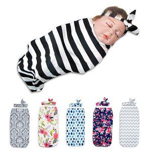 10 Colors Two-piece Set Ear Hair Band+sleeping Bag Newborn Baby Towel Newborn Photography Cocoon Swaddle Sack Sleepsack