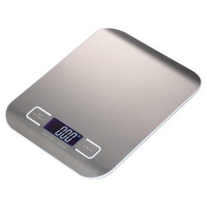Professional Touch Digital Kitchen Scale Electronic Food Scales Measuring Tools  LCD Display & Stainless Steel Platform T200326