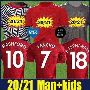 2020 붉은 악마 맨유 POGBA 브루노 페르난데스 soocer 저지 아이들은 맨체스터 RASHFORD 산초의 축구 유니폼 맥과이어 WAN-BISSAKA 저지를 KIT