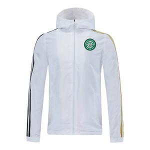 Celtic FC 20/21 con cappuccio Giacca a vento giacche 2020 2021 celtico Felpe con cappuccio Sport giacche zip con cappuccio cappotto invernale Giacche corsa