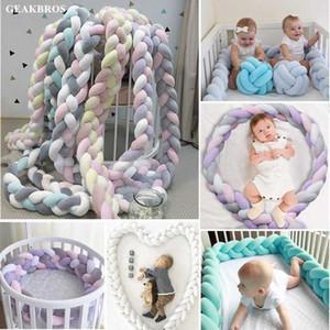1 M / 2 M / 3 M Bebek Beşik Yatak Tampon Düğümlü Örgülü Peluş Kreş Beşiği Dekor Yenidoğan Bebek Yastık Yastık Junior Yatak Uyku Tampon 8CPC #