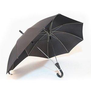 Creative fashion two-pole couple umbrella pure color semi-automatic high-end business umbrella double top conjoined umbrella Bla