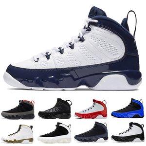 Mode space jam OG 9 9s Chaussures de basket pour la gymnastique statue bleu noir rouge hommes vente chaud hommes chaussures de sport de chaussures de sport en plein air 40-47