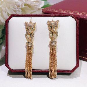 Fashion Persönlichkeit herrschsüchtig Straße Stil Quasten Leopard Ohrringe Partei Qualität geben Verschiffen Frauen keinen Grund zur Rückkehr