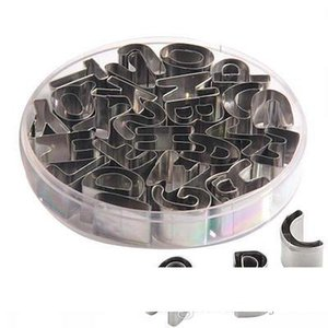 26 Stainless Steel English Alphabet Letters Cookies Molds Tools Set
