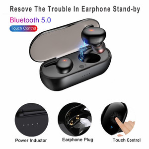 TWS 4 bluetooth 5.0 earphones Mini Wireless Earbuds Touch Control Sport in Ear Stereo Cordless Headset for cellphones headphones