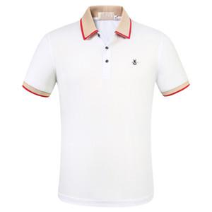 Yeni Tasarımcılar Polo Gömlek Erkekler lüks Polo Casual Erkek Polo T Shirt Yılan Arı Harf Nakış Moda High Street Erkek Polos yazdır