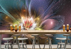3d resumen de papel tapiz de flores de fotos para la sala murlas tamaño de la pared decoración personalizada paisaje florales