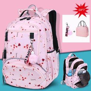 Large Capacity Schoolbag Student School Backpack Floral Printed Primary School Bags Bookbags for Teenage Girls Kds Backpack Y200706