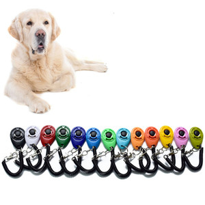 Dog Training Clicker con cinturino da polso regolabile Cani Clicca Trainer Aid Suono tasti for Behavioral Training JK2007KD