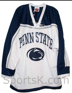 Пользовательские Мужчины Молодежь женщины Урожай Penn State Nittany Lionss белый хоккей Джерси размер S-5XL или пользовательские любое имя или номер